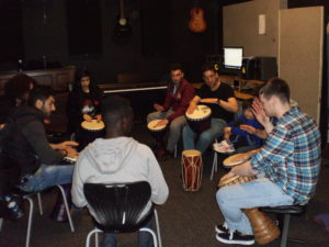 Drumming with Ceiron and Annabelle